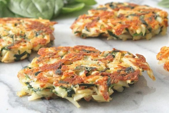 Hashbrowns with Spinach and Carrot