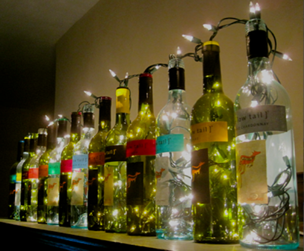 decorated Wine bottle lights without drilling 16