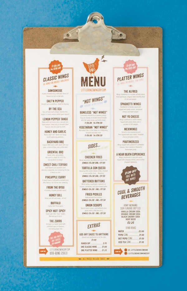 Catchy Collections of Cool Restaurant Menu Designs - Fabulous ...
