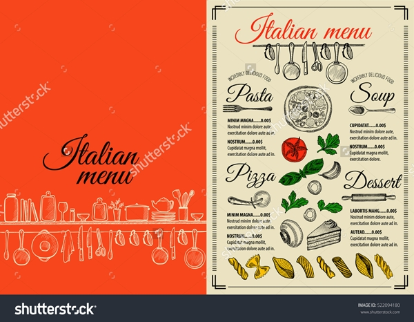 restaurant menu design aa