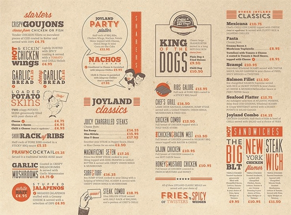 restaurant menu design h