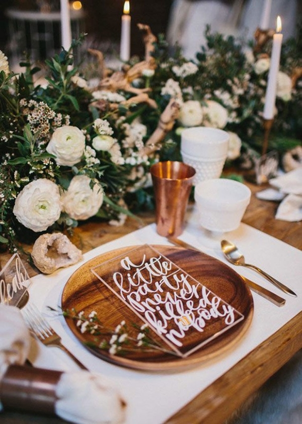wedding table setting ideas b