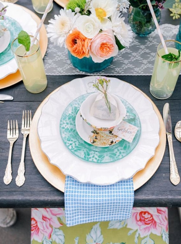 wedding table setting ideas cc