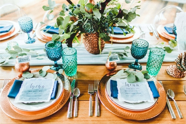 wedding table setting ideas e