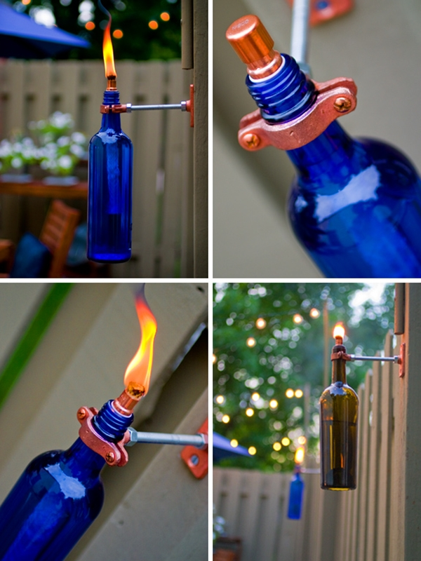 Wine bottle lights without drilling 1