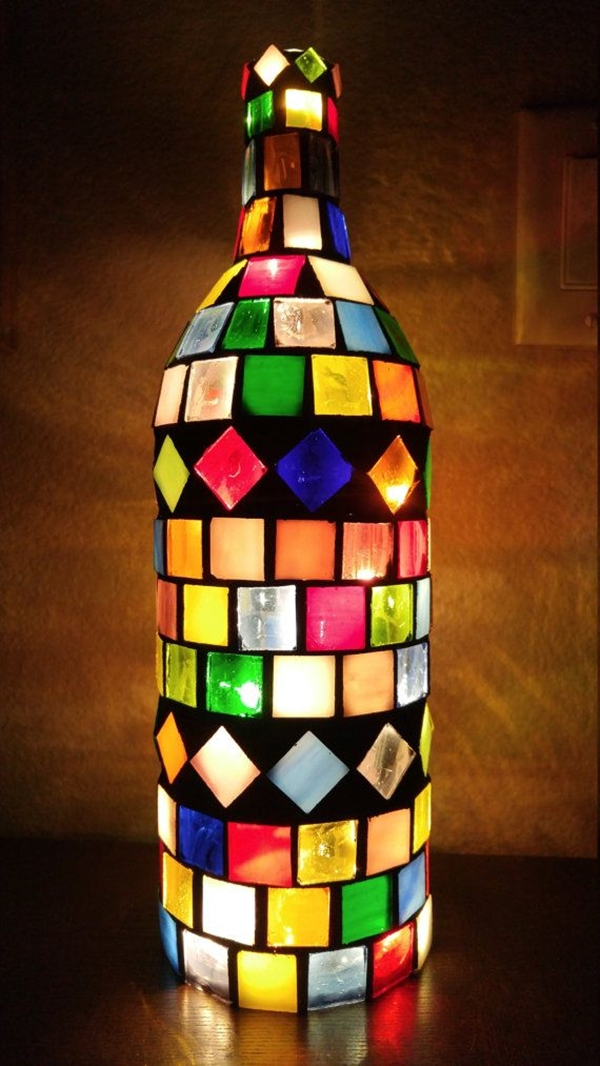 decorated Wine bottle lights without drilling 21