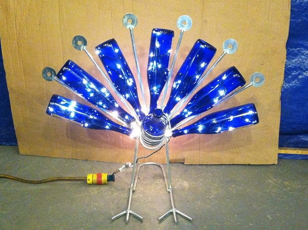 decorated Wine bottle lights without drilling 3