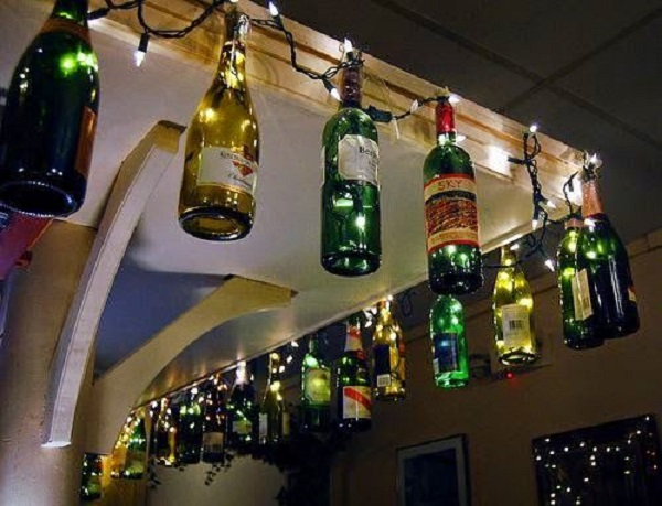 decorated Wine bottle lights without drilling 13a