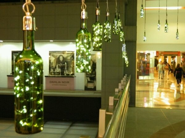 decorated Wine bottle lights without drilling 22