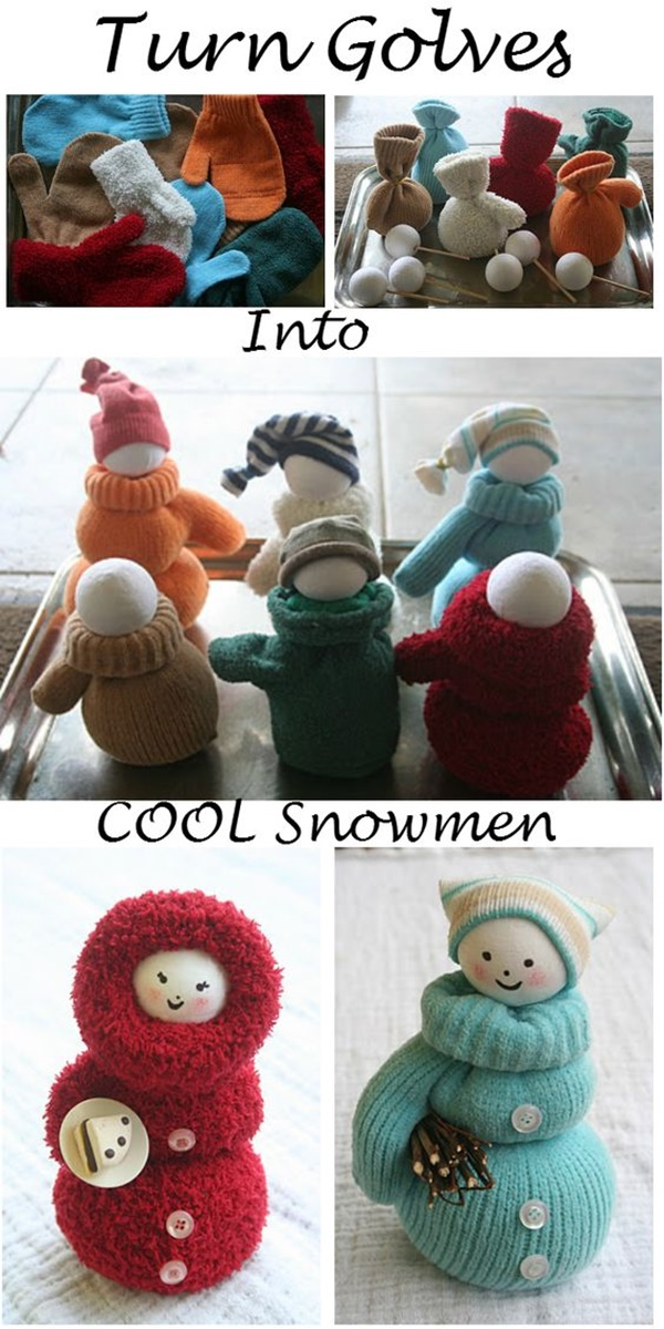 Quick and Easy DIY Snowman Craft Ideas