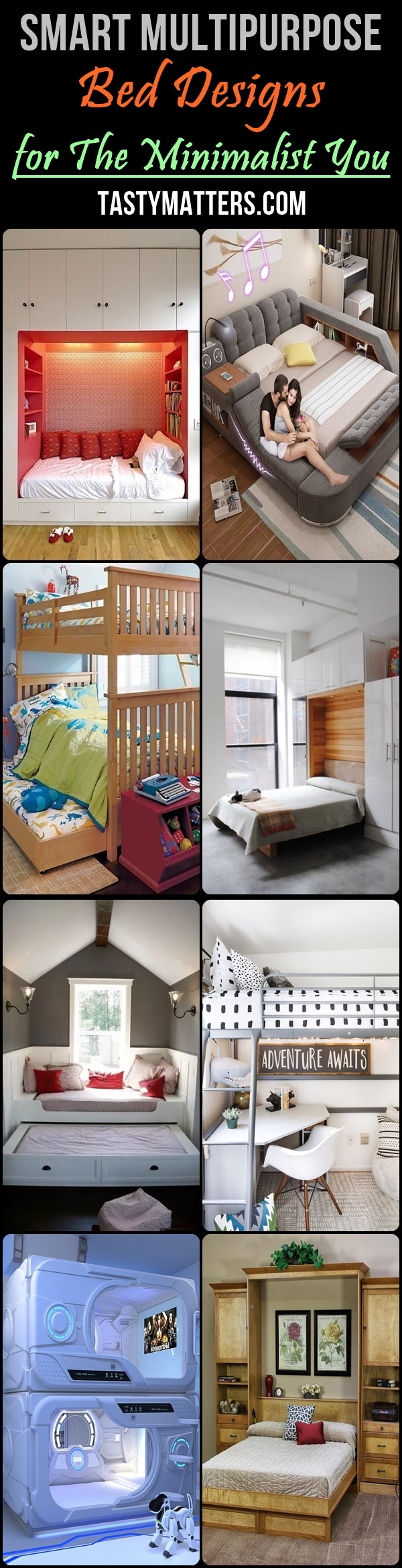 Smart Multipurpose Bed Designs for The Minimalist You